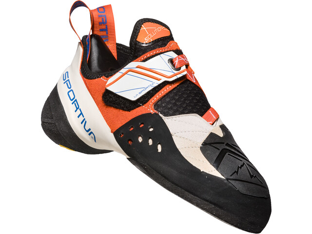 La Sportiva Solution Climbing Shoes Dam white/lily orange